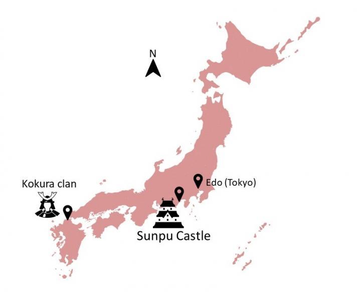 Map of 17th Century Japan