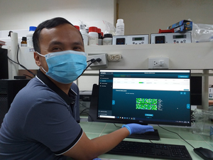 Working with the portable genomics device