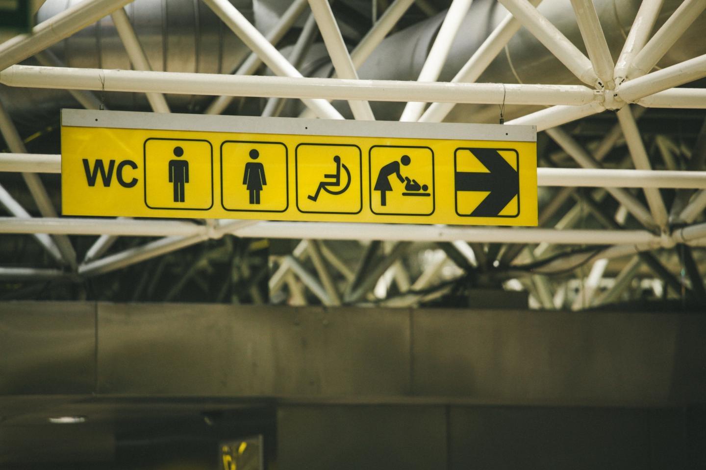 Airport Toilet Signage