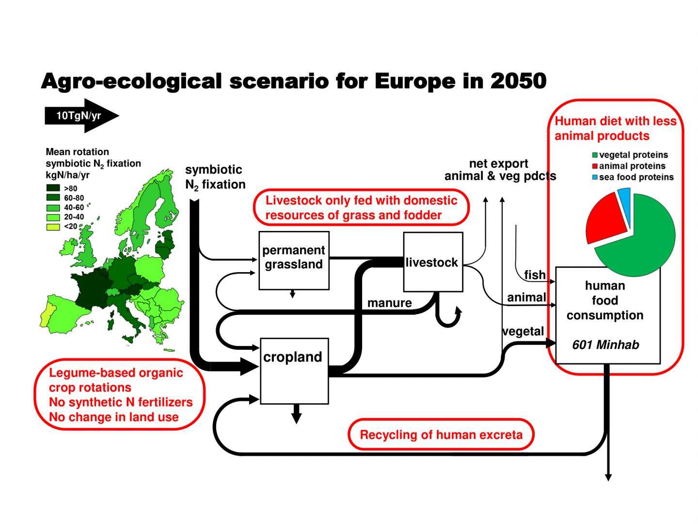 Diagram of a Possible Agro-Ecological Scenario for 2050