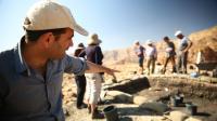 Excavating Slaves' Hill.