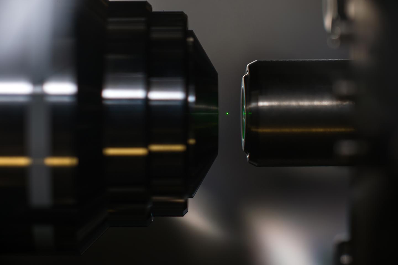 A Glowing, Optically Levitated Nanodiamond