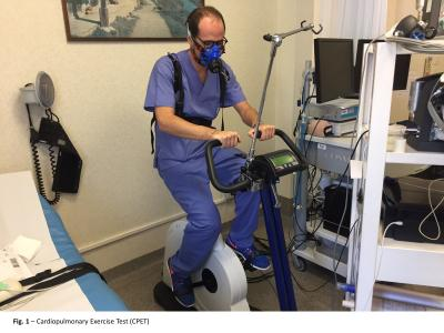 Experiments carried out using exercise bike