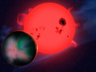Planet Orbiting a Red Dwarf Star