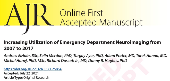 Increasing Utilization of Emergency Department Neuroimaging from 2007 to 2017