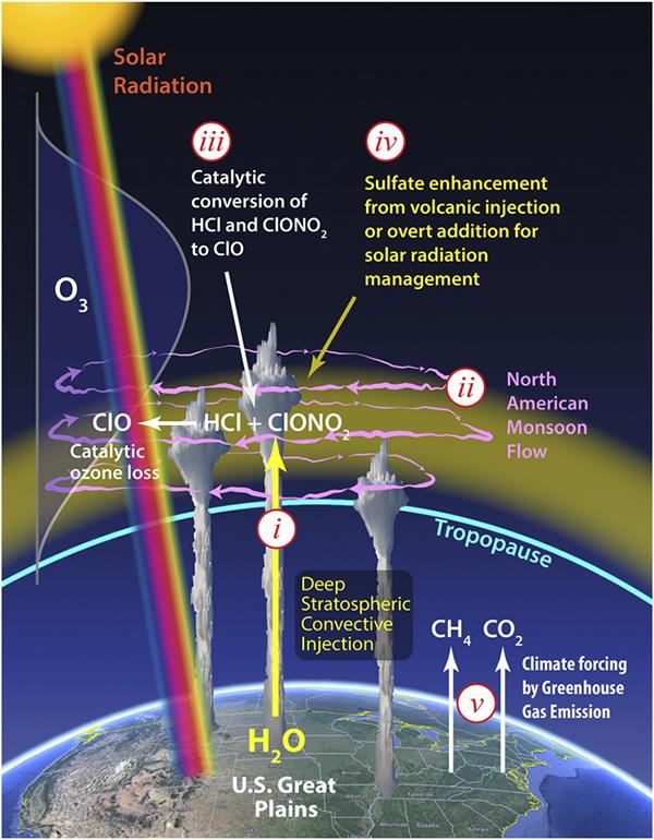 Ozone Depletion in the Central US