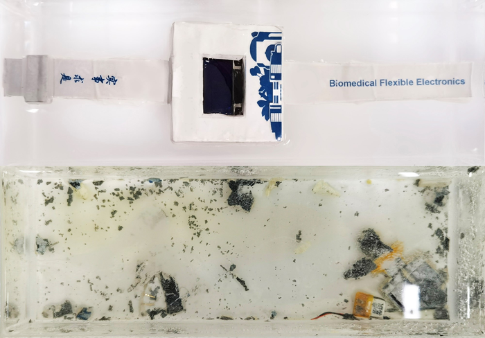 A dissolvable smartwatch makes for easier electronics recycling