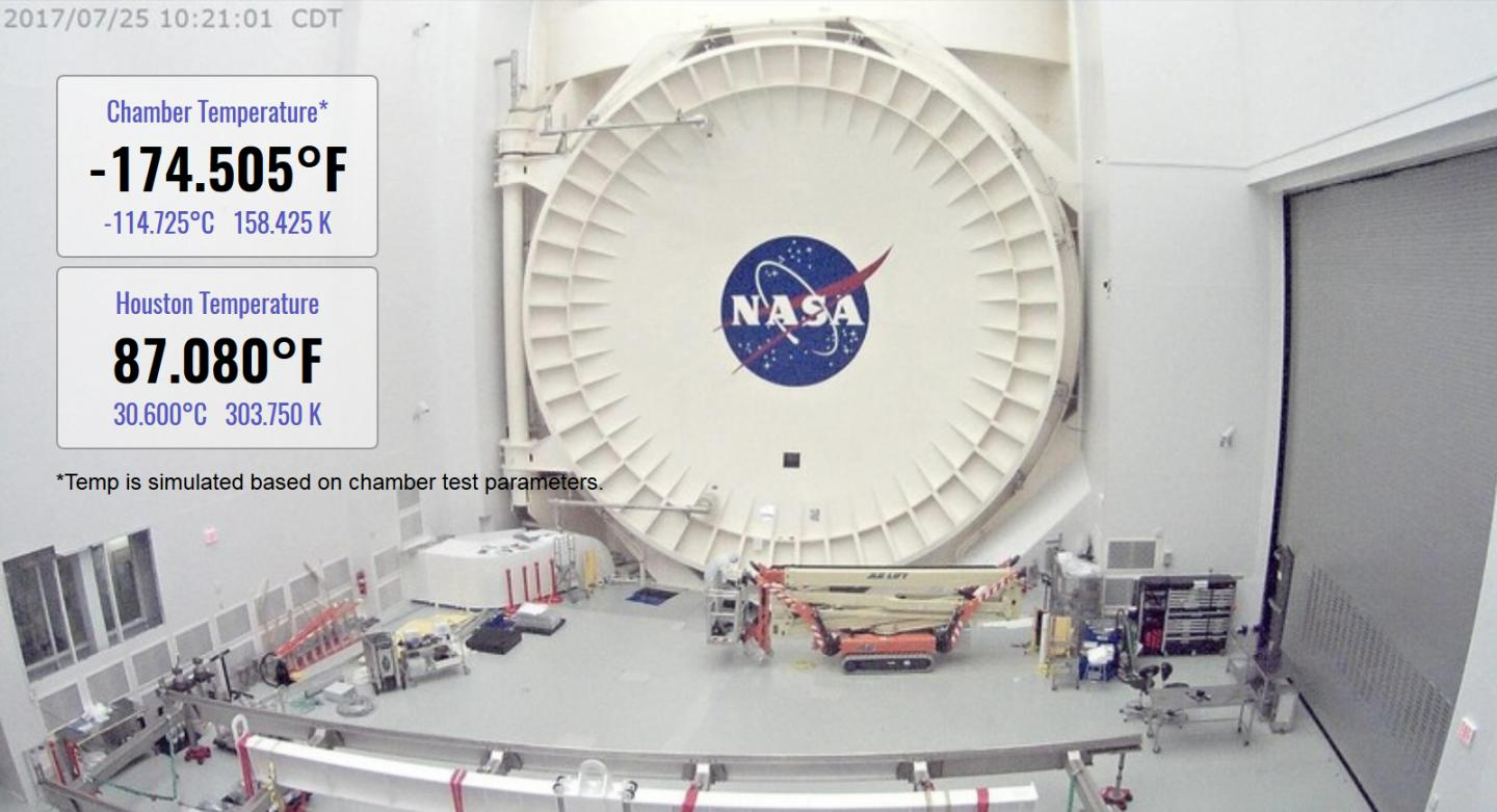 Webbcam Shows Temps in Chamber A
