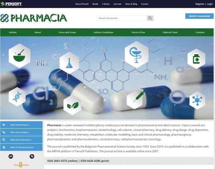 Homepage of Pharmacia's New Website