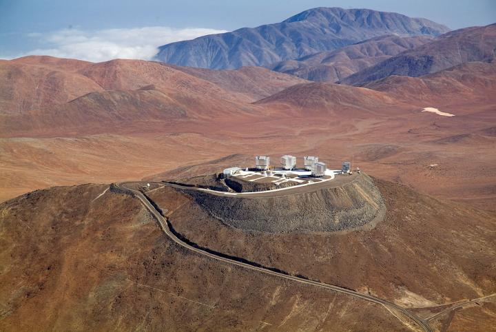 ESO's Observatory at Paranal Viewed from Above