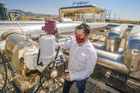 Checking for molten salt valve deterioration.