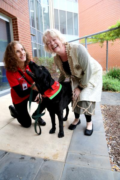 Therapy Dog with Researchers