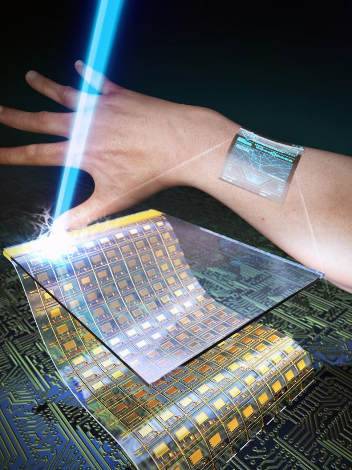 A Schamatic Image of Ultrathin, Flexible, and Transparent Oxide Thin-film Transistors