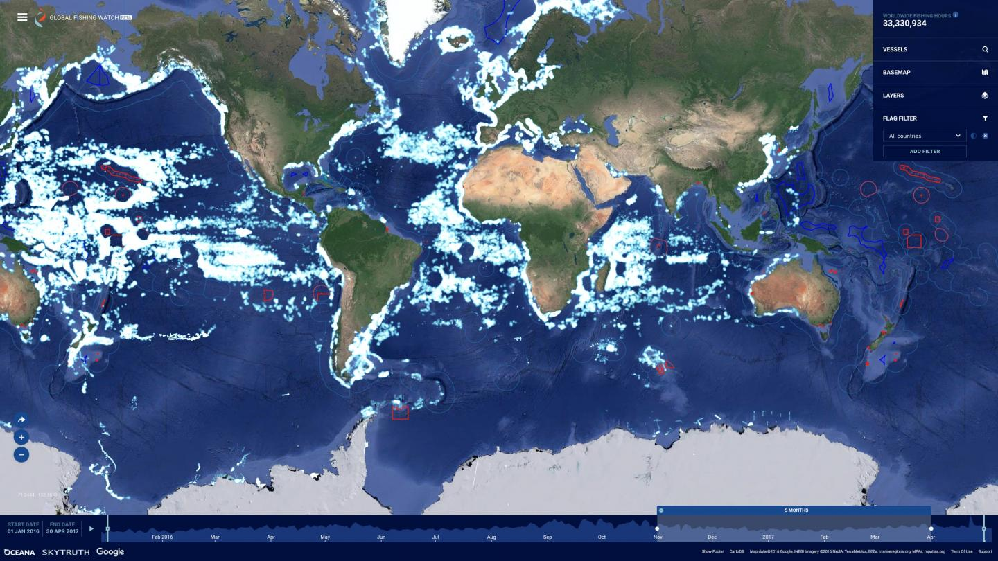 New Global Fishing Watch Beta Release 2.0 Commercial Fishing Activity Map Interface