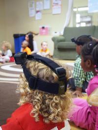 Girl Wearing Video Camera in Class