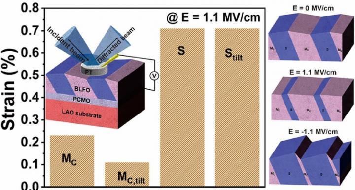 Mixed-phase epitaxial BLFO thin film
