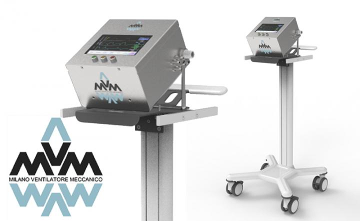 Mechanical Ventilator Milano, Designed by Particle Physicists for COVID-19 Patients