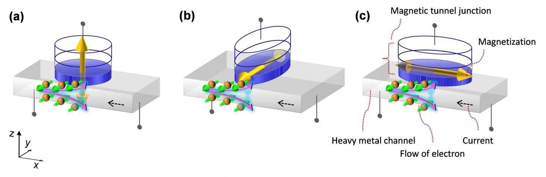 Spin-Orbit Torque-Induced Magnetization Scheme