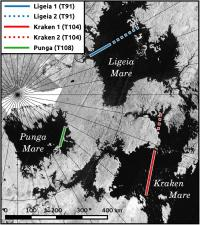 Titan Lakes Map