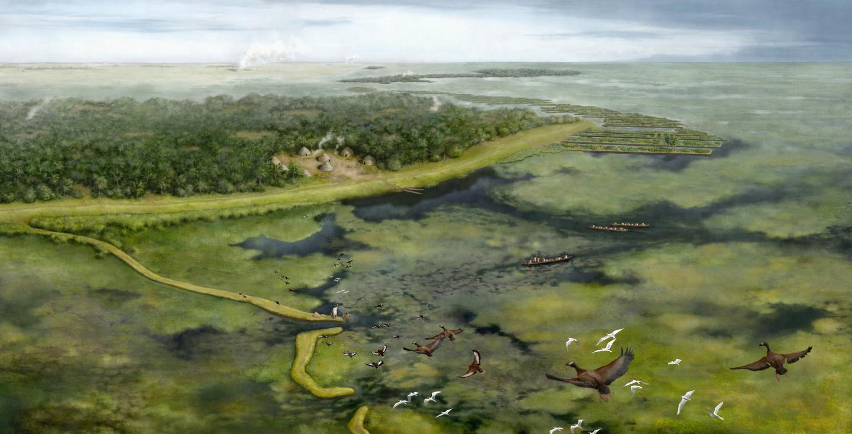 Representation of the pre-Columbian landscape in SW Amazonia around 3,500 years ago