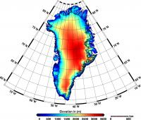 Greenland's Elevation Map