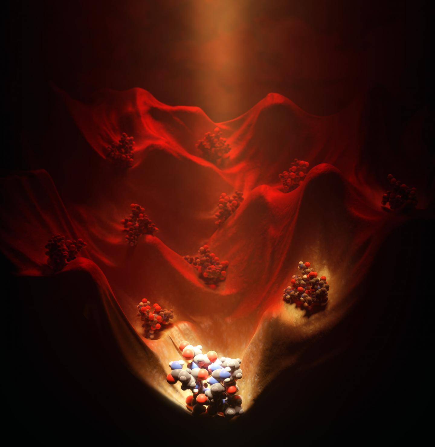 Illuminating the Energy Landscape of Structure Peptides