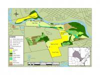 Map Indicating Habitat Types and Sampling Sites