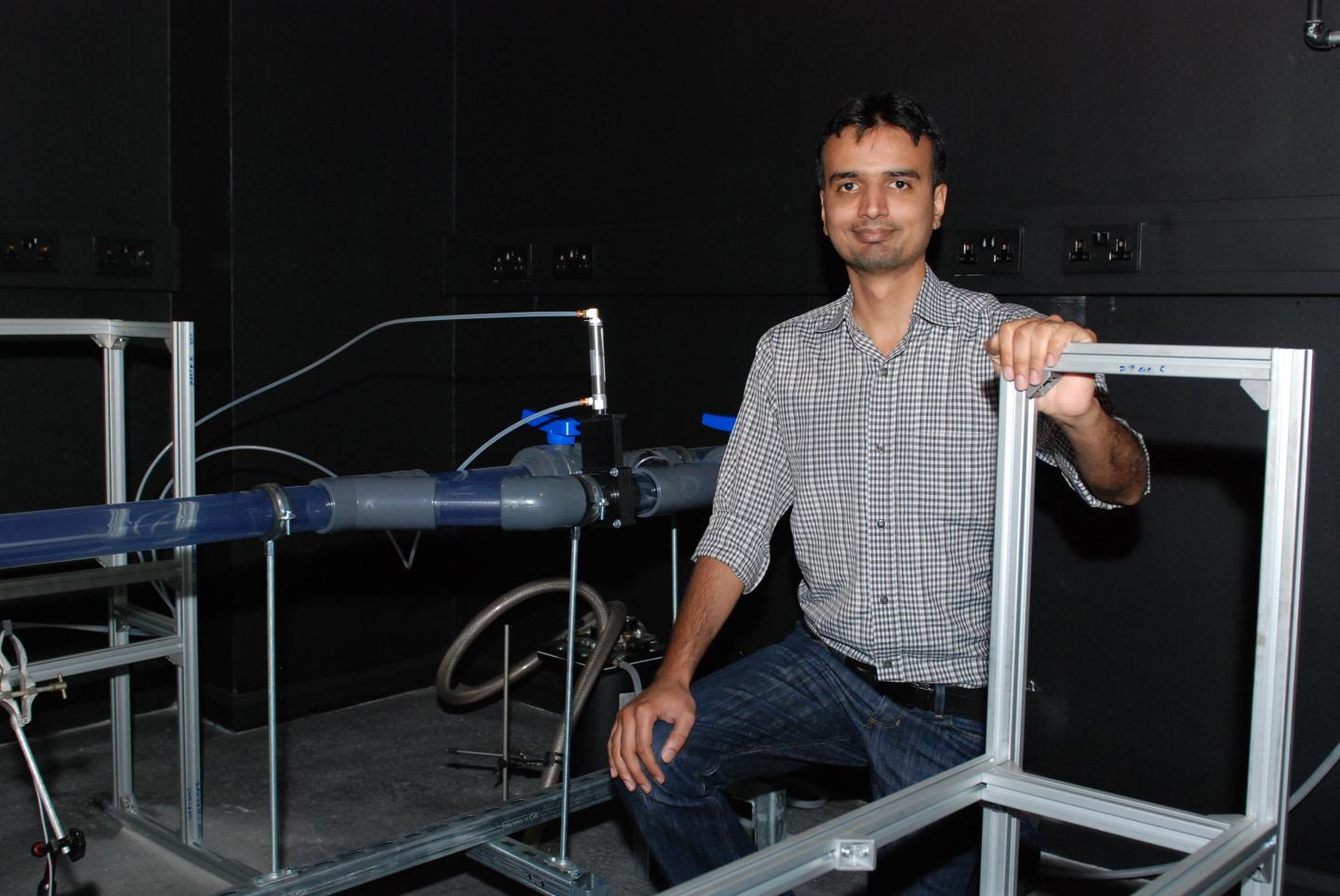 Dr. Taimoor Asim in the Laser Lab