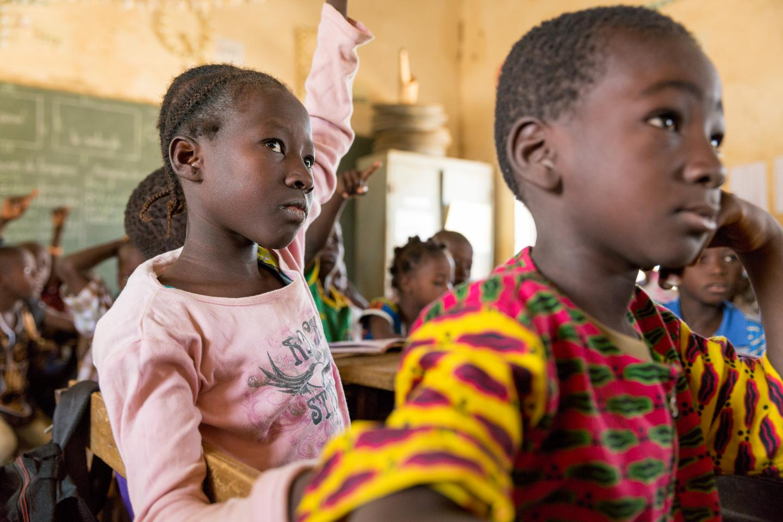 Students in class in Burkina Faso