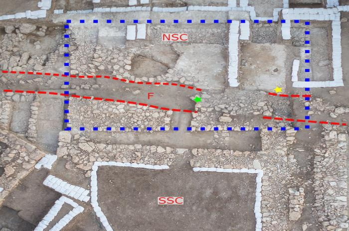 Ariel view of the trench