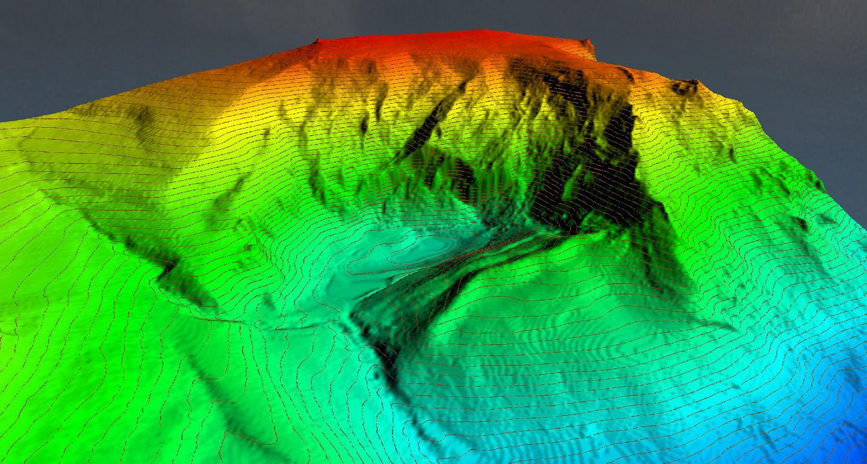 3D Map of the Lake Truchilla