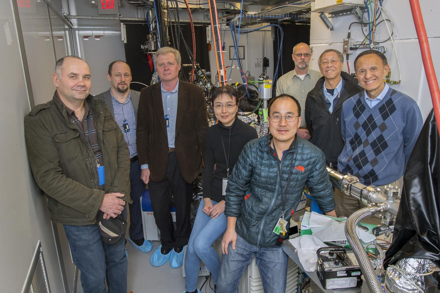 Research Team at Brookhaven's Accelerator Test Facility (ATF)