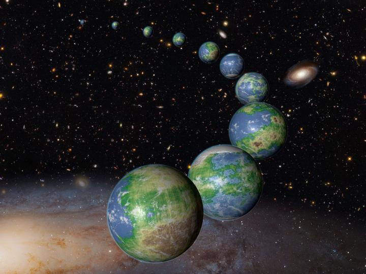 An Artist's Conception of Earth-Like Planets