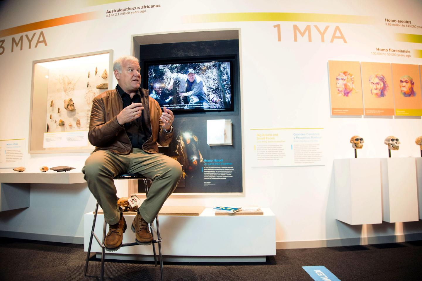 Paleoanthropologist Lee Berger and Perot Museum Leaders Unveil Dinaledi Virtual Reality App