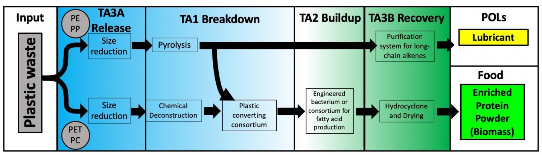 Plastic to Protein Powder Process