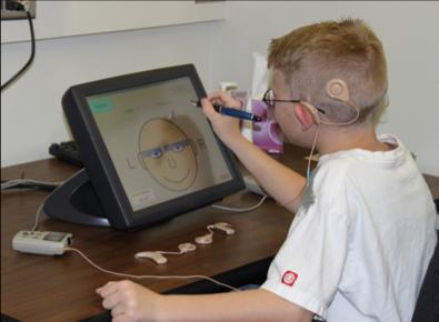 A Child Hears Using Synchronized Binaural Stimuli in Litovsky's Lab