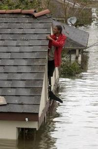 Hurricane Katrina Flooding in Ninth Ward, New Orleans