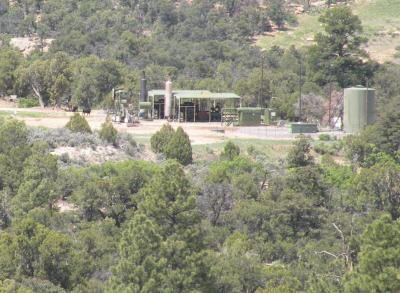 Noisy Gas Well Site in Northern New Mexico