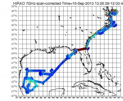 Data from the Real-Time HIRAD Data Stream