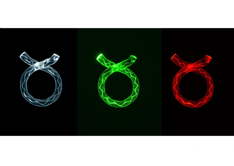 Three Glass Rings by Artist Karen Cunningham