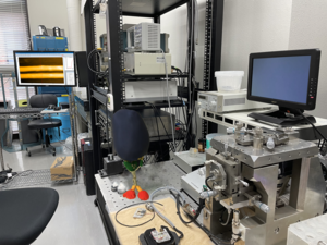 The high-speed atomic force microscope used in the study