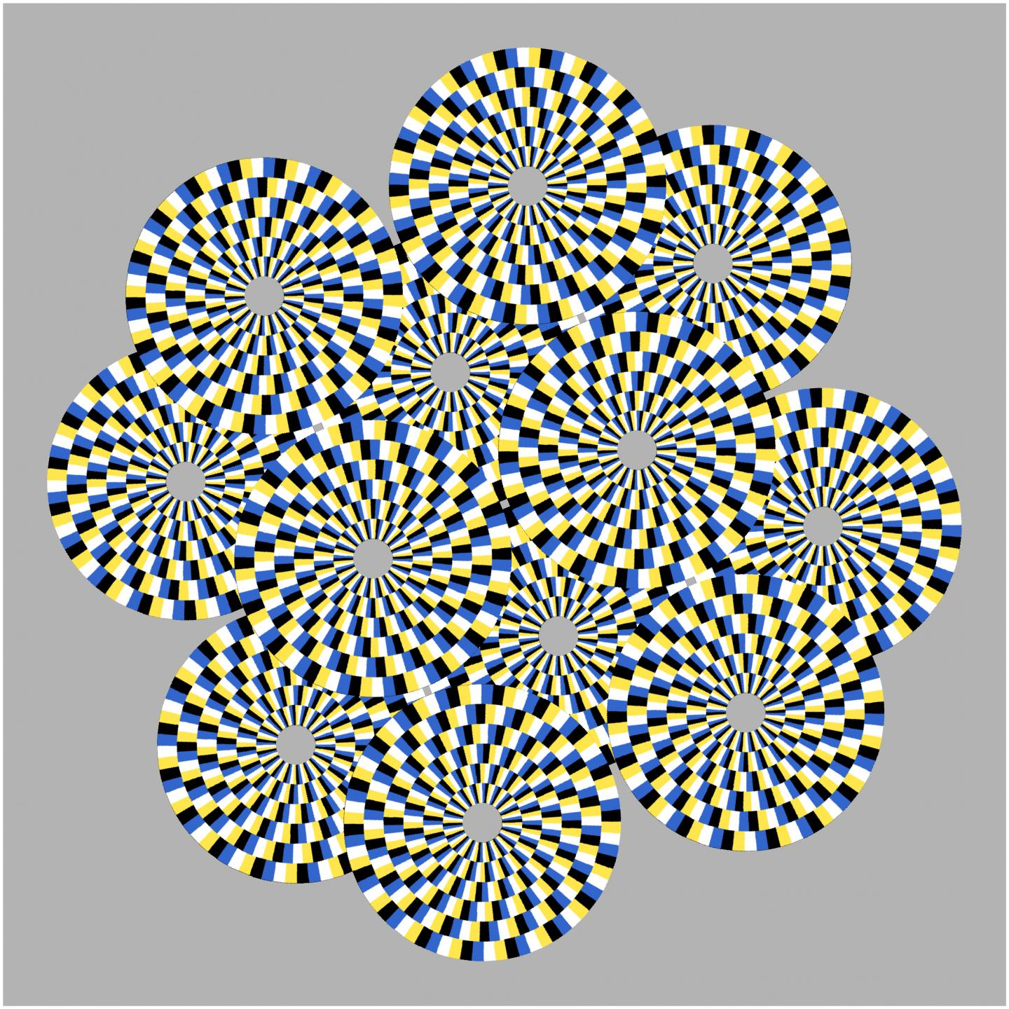 Circles Rotating in Different Directions