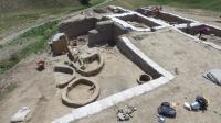 Drone Photograph of Excavations at Gadachrili Gora site in Republic of Georgia