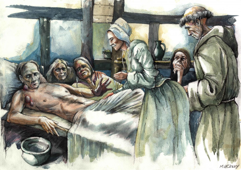 Reconstruction of plague victim