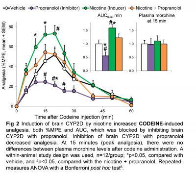 Nicotine Increases Codeine-Induced Analgesia
