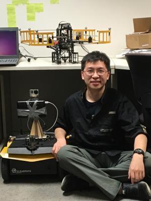 Xinke Deng with UAV and UGV
