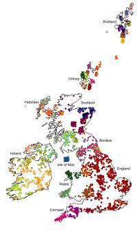 Genetic Map of British Isles