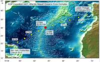 IODP Expedition Undersea Sampling Sites