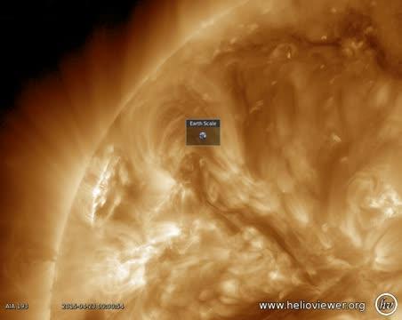 A Solar Tornado Observed by the NASA Satellite SDO