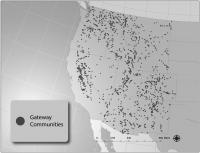 Map of gateway communities